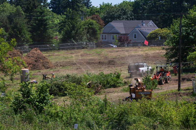 PMG PHOTO: JONATHAN HOUSE - Crews continue to work on developing Woodmont Natural Park in Lake Oswego.