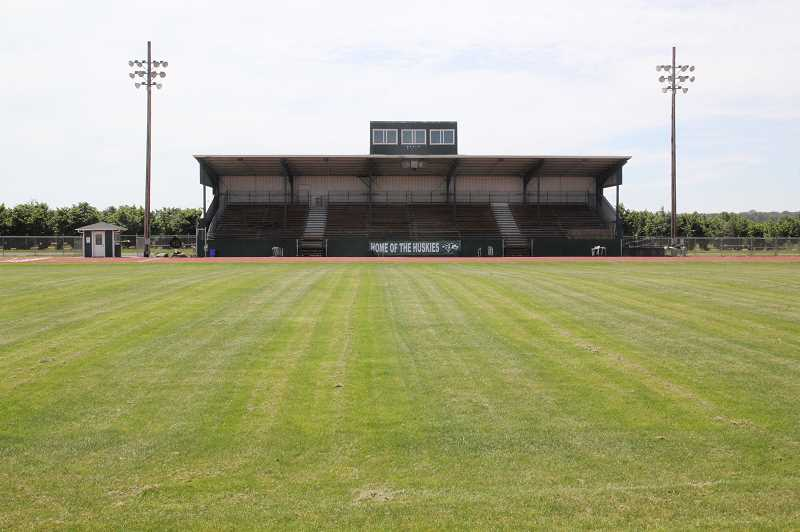 PMG PHOTO: JUSTIN MUCH - A hybrid graduation ceremony will put North Marion High Schools football field to use between 3 and 8 p.m. Friday, June 5.
