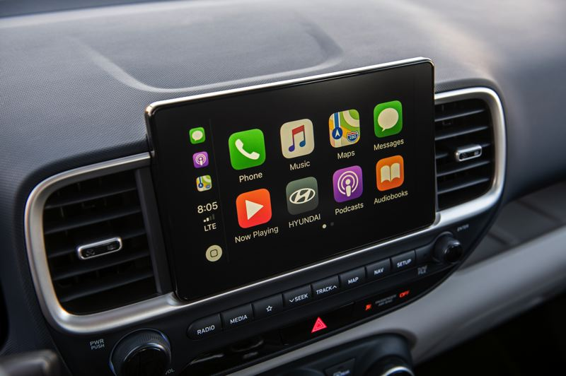 COURTESY HYUNDAI - The 8-inch touchscreen audio comes with Android Auto and Apple Carplay.