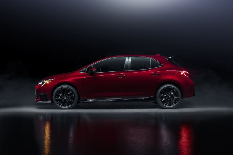 COURTESY TOYOTA - Because it is a hatchback, the 2021 Toyota Corolla SE is practical, too.