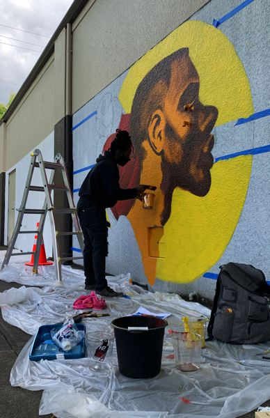 COURTESY PHOTO: PSAA - 'Ladies Up' artists are painting murals at Killian Pacific property in Southeast Portland.