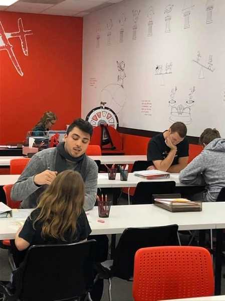 COURTESY PHOTO: MATHNASIUM OF SHERWOOD - Students learn math skills at Mathnasium of Sherwood before the coronavirus pandemic closed the business physical learning center. Instruction is now done online.