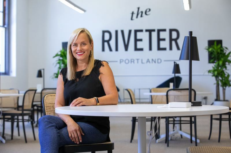 PMG: JONATHAN HOUSE  - Tami Wood, general manager of the coworking space for women The Riveter in Portland in July 2019.