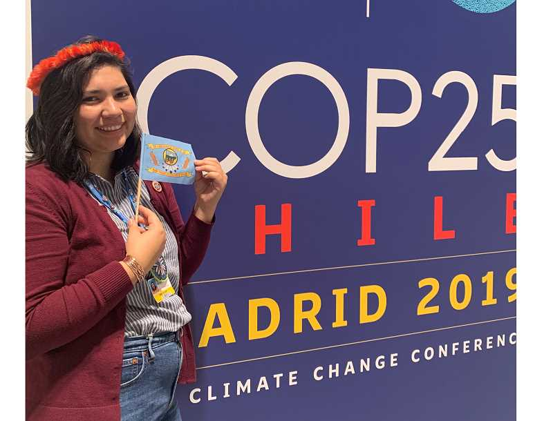 COURTESY PHOTO - Katherine Quaid attends the United Nations' 25th annual Conference of Parties in Madrid. Quaid said for people like her, the conference on climate change is like Disneyland.