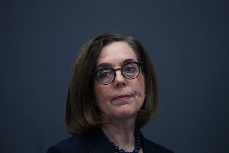 FILE - Oregon Gov. Kate Brown