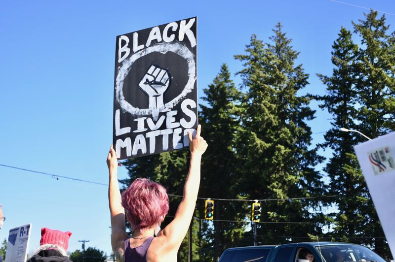 Sandy rally shows solidarity with Black Lives Matter movement