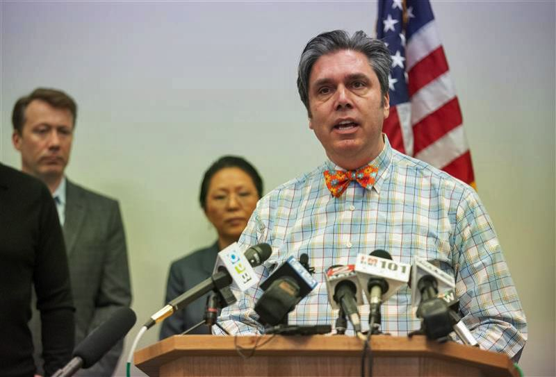 PMG FILE PHOTO - State Epidemiologist Dr. Dean Sidelinger, at an earlier press event.