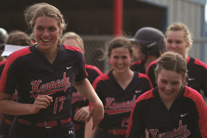 PMG FILE PHOTO: PHIL HAWKINS - The Kennedy softball team had the second best GPA among 2A/1A programs this past spring.