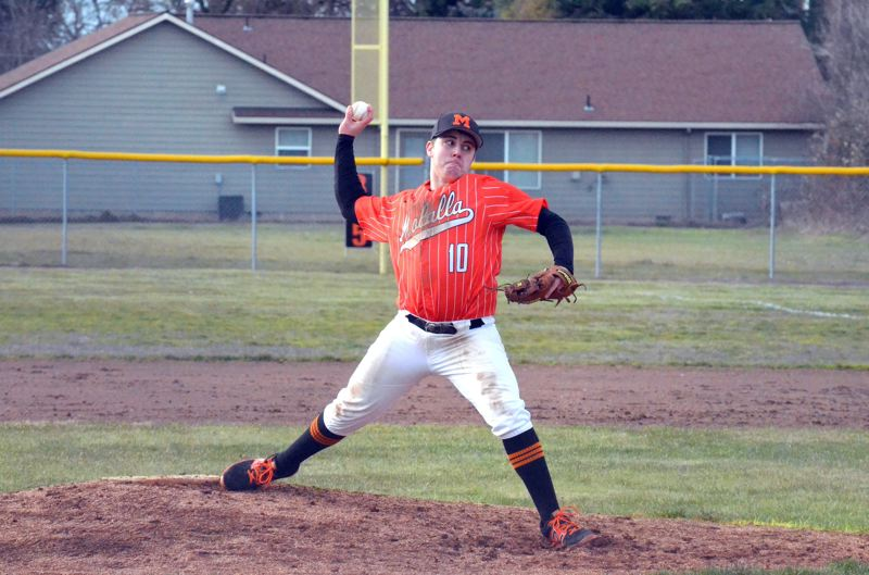 PMG FILE PHOTO: TANNER RUSS - The Molalla baseball team sported a 3.75 GPA this past spring, second best among 4A schools
