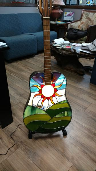 COURTESY PHOTO: HALEY WIGENT - Haley Wigent turned her fathers guitar into a glass lamp.