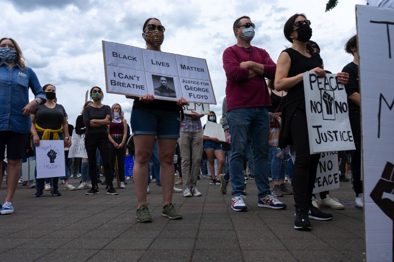 PMG PHOTO: CLARA HOWELL  - Hundreds of community members flocked to Millennium Park Plaza June 5 to support a Black Lives Matter protest.