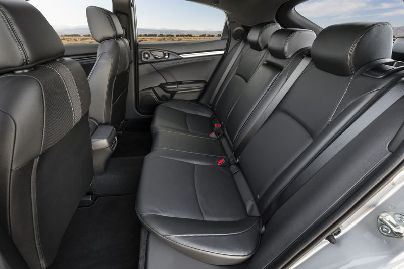 AMERICAN HONDA MOTOR CO. - Rear seat room is good for a compact car.