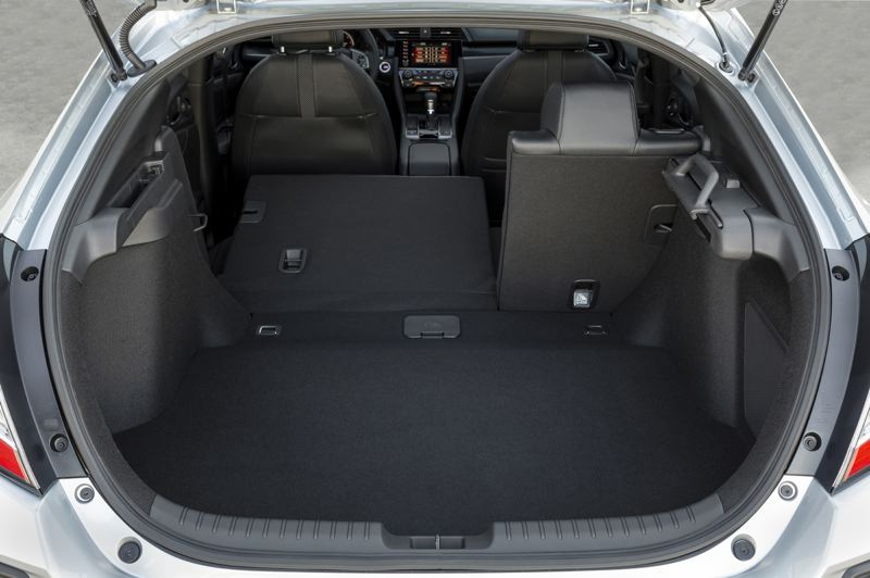 AMERICAN HONDA MOTOR CO. - The hatchback increases the practicality of the Civic by increasing the cargo space.
