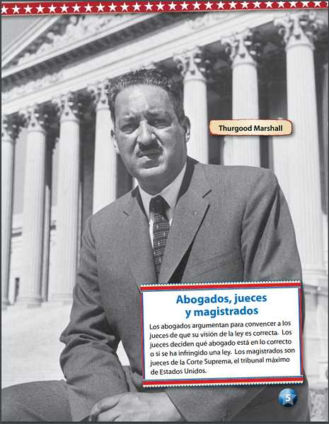 COURTESY PHOTO: WOODBURN SCHOOL DISTRICT - Bilingual material provides English and Spanish education on historical figures such as former United States Supreme Court Justice Thurgood Marshall.