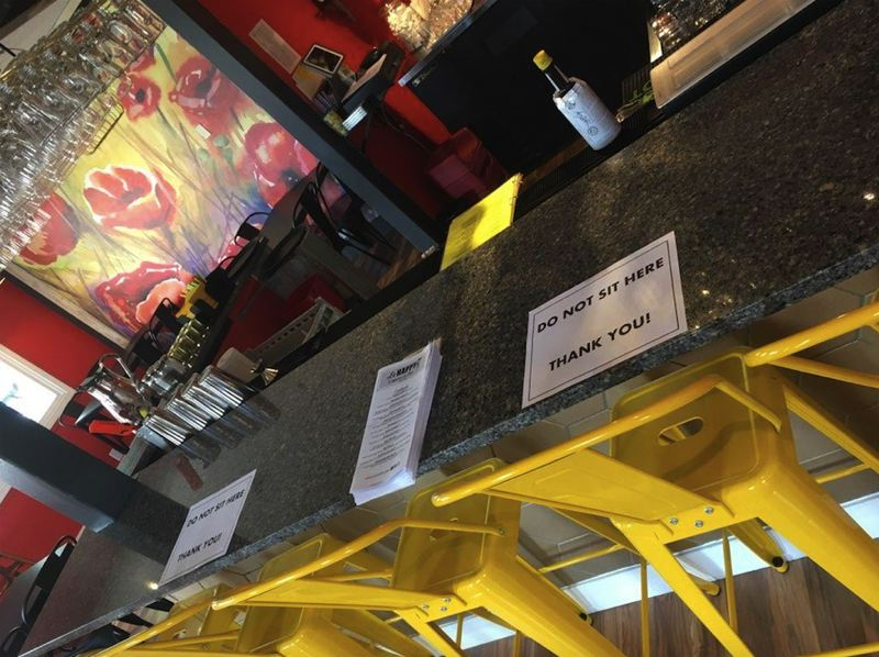 COURTESY PHOTO - Le Happy Creperie has implemented distancing to be able to offer dine-in to customers.