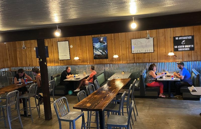 COURTESY PHOTO - Bradys Brats and Burgers now offers dine-in service again but also take-out and delivery, including for wine, beer and cider.