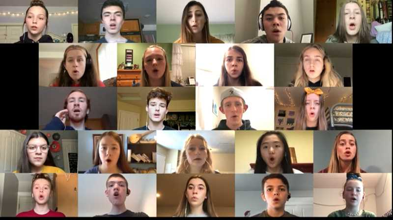 COURTESY PHOTO - North Clackamas Christian School's choir records performances virtually during the coronavirus epidemic.