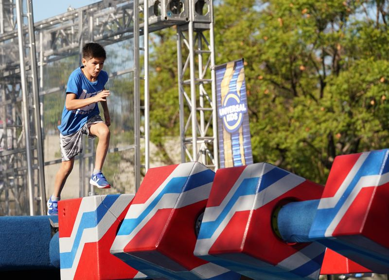 COURTESY PHOTO - Portland's Reeder Smith has tackled many obstacles on 'American Ninja Warrior Junior,' and one of the toughest has been the Block Run. The finals are Friday, June 12 on Universal Kids network.