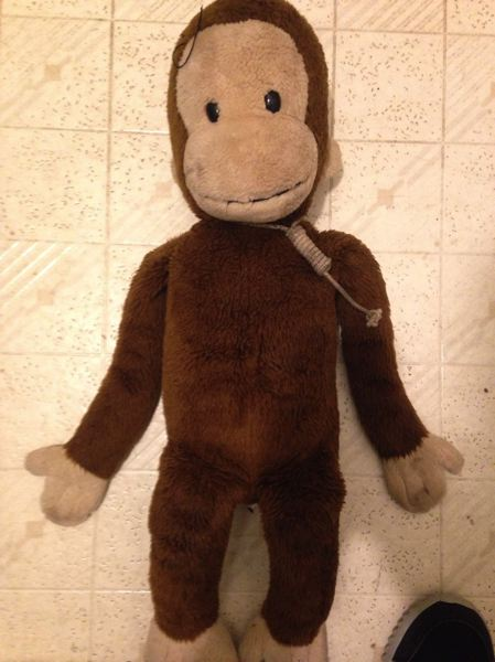 COURTESY OF DARRELL BELL - A stuffed toy monkey was found hung by a noose on Highway 30.