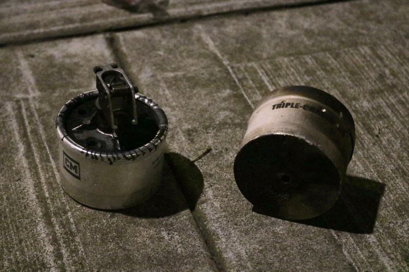 PMG PHOTO: ZANE SPARLING - A canister of gas sat on the streets of Portland during the aftermath of a recent protest.