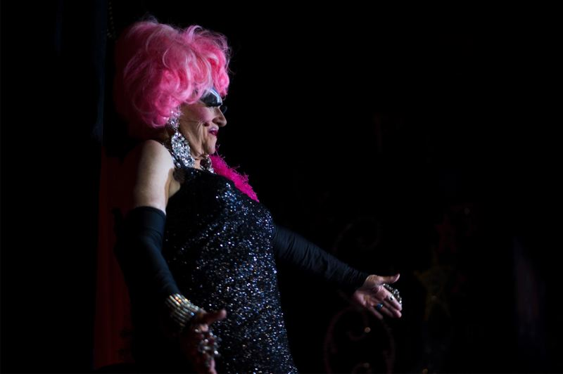PMG FILE PHOTO - Darcelle (89-year-old Walter Cole) holds a world record as the oldest performing female impersonator.
