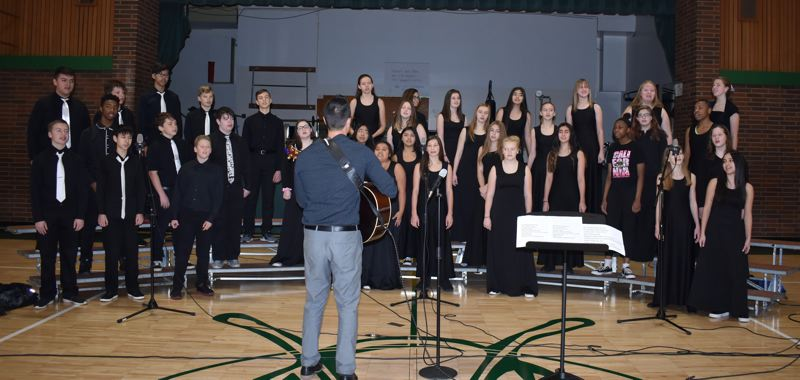 PMG FILE PHOTO - Social distancing will be difficult under the school repoening guidelines for groups such as Gresham's Dexter McCarty Middle School choir.