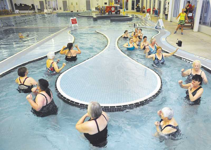 NEWBERG GRAPHIC FILE PHOTO - The aquatic center's popular water aerobics class will not return to the facility until CPRD initiates the third phase of its reopening, officials said last week.