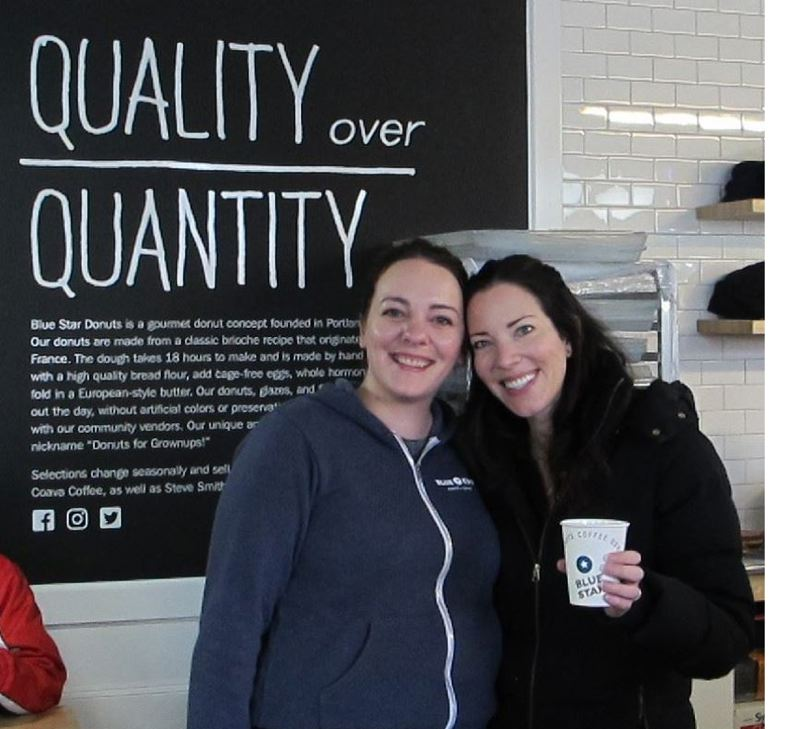 PMG: FILE PHOTO - Jessica Kulp (l) and Katie Poppe (r) the owner of Blue Star Donuts.