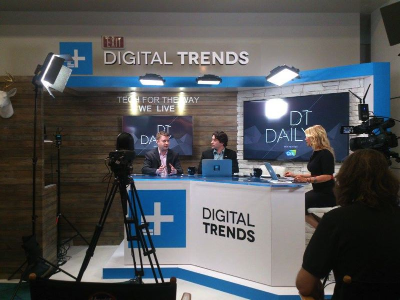 COURTESY: DIGITAL TRENDS - Tech news site Digital Trends had a live news desk at the Consumer Electronics show in Las Vegas in 2018. Company executives apologized by email Thursday for not living up to their woke words.