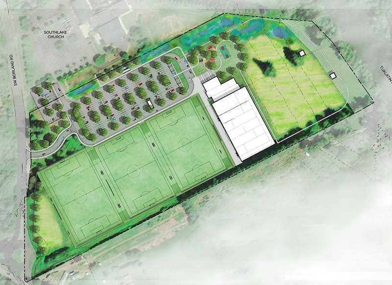 COURTESY PHOTO: WUFC - Willamette United Football Club's plans for the faciliy include three lit artificial turf soccer, football and lacrosse fields, an indoor training field house, offices for the club, a concession stand, a training room, a walking/jogging path and a playground.