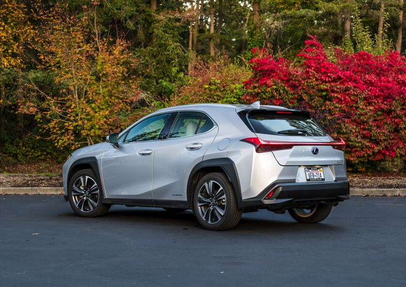 TOYOTA MOTOR SALES USA - The edgy styling of the 2020 UX continues from the large spindle grill to to the angular rear end.