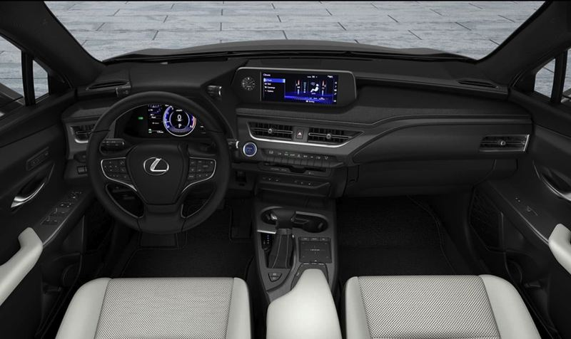 TOYOTA MOTOR SALES USA - The interior of the 2020 UX 250h F Sport is loaded with luxury and advanced technologies.