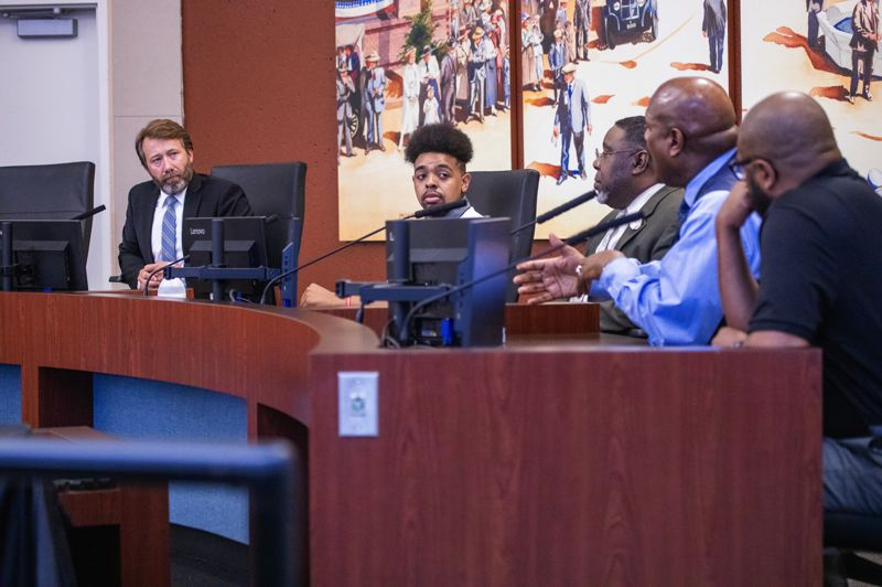 COURTESY PHOTO: CITY OF GRESHAM - A panel of black community leaders met with Gresham City Leadership Wednesday, June 10.
