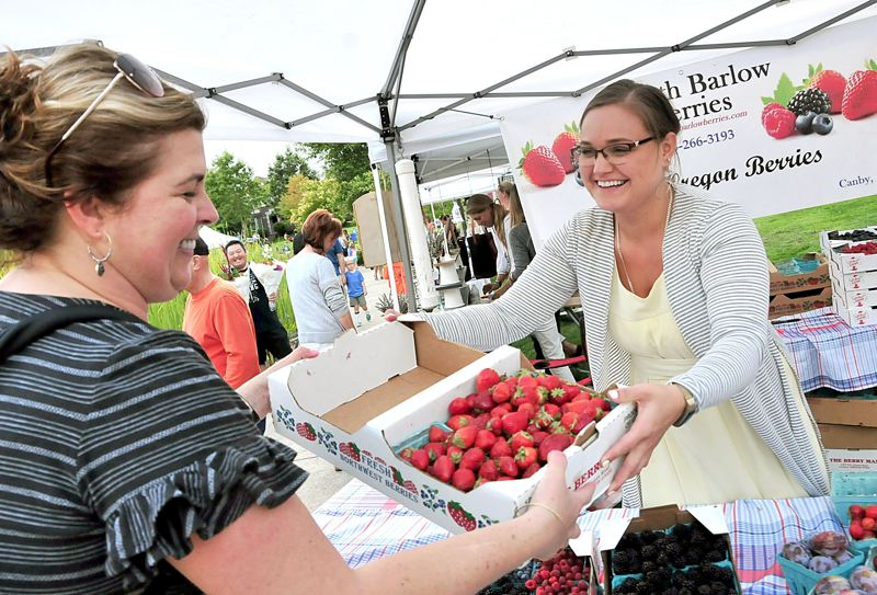 PMG FILE PHOTO - The Wilsonville Farmers Market is opening this Thursday from 4-8 p.m. at Town Center Park.
