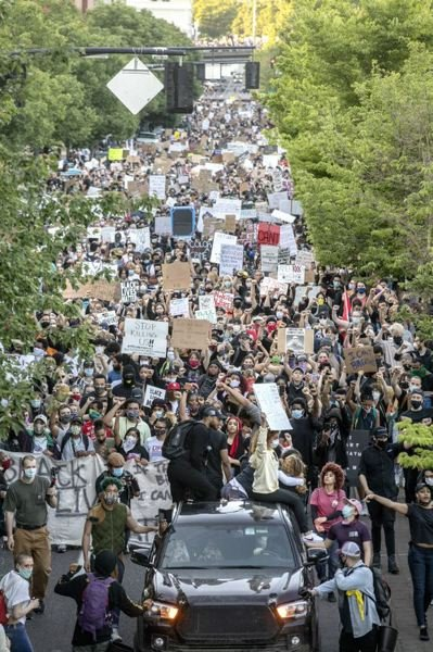PMG PHOTO - Mass protests against police violence and racism have spurred changes to the concepts of policing, here and across the county.