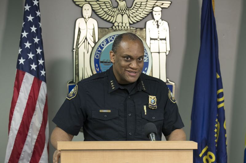 PMG PHOTO: JAIME VALDEZ - Chuck Lovell has become the 50th chief in the history of the Portland Police Bureau, at a time when relations between police and African Americans are strained.