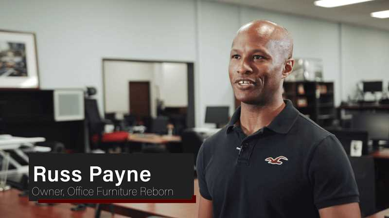 (Image is Clickable Link) Russ Payne -Owner Office Furniture Reborn