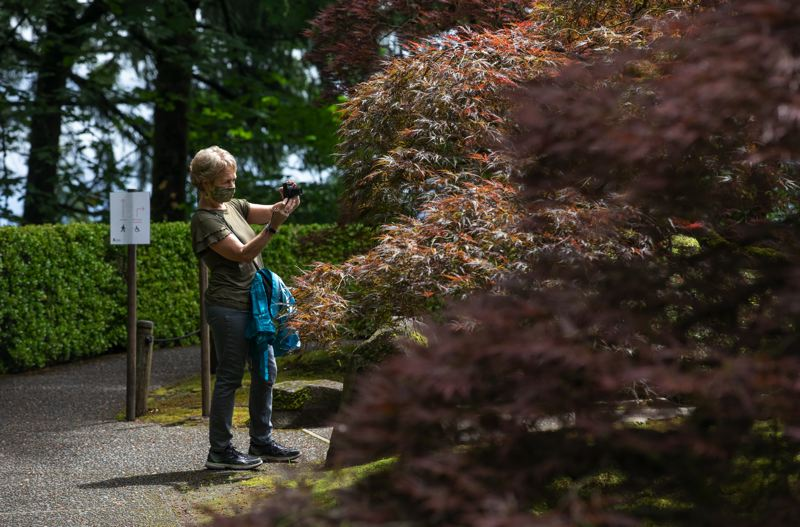 PMG PHOTO: JONATHAN HOUSE - Officials said that Portland Japanese Garden provides space for visitors to experience inner peace and peace and understanding among peoples and cultures.