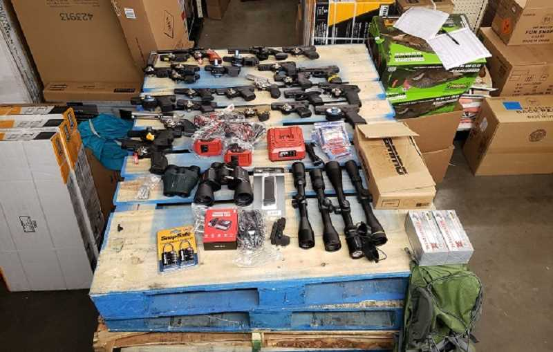 COURTESY PHOTO: MOLALLA POLICE - Items recovered from a break-in at a Bi-Mart in Molalla June 16, 2020.