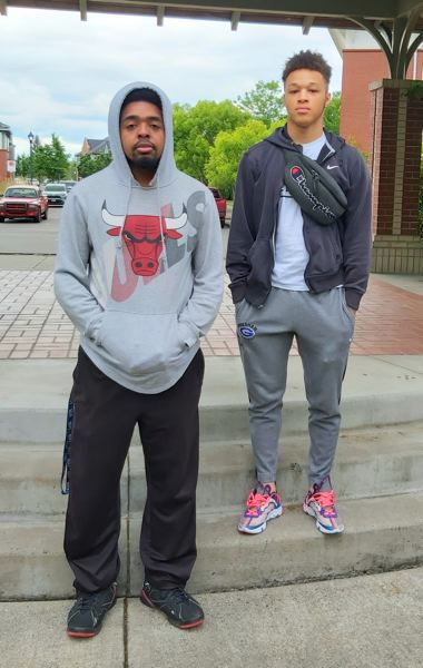 COURTESY PHOTO: KARI HASTINGS - Shemar Lenox, 21, (left) and Jaylen Welch, 18, draw from personal experience in their efforts to end racism in East Multnomah County.