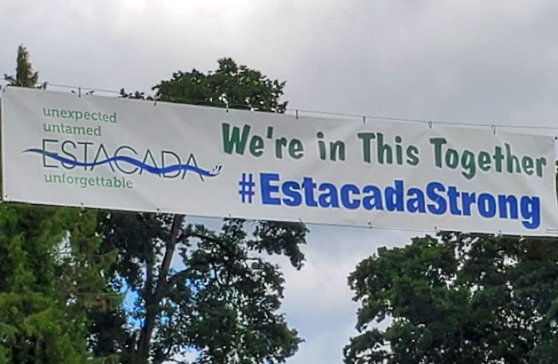 COURTESY PHOTO - This banner can be found in downtown Estacada.
