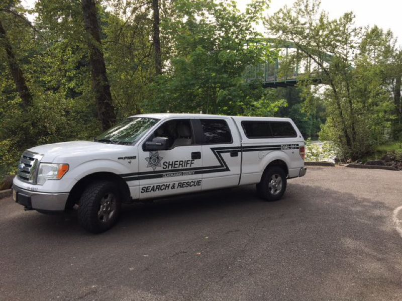 COURTESY PHOTO - Crews responded to a report of people in distress on the Clackamas River near Barton Park on Friday, June 19.