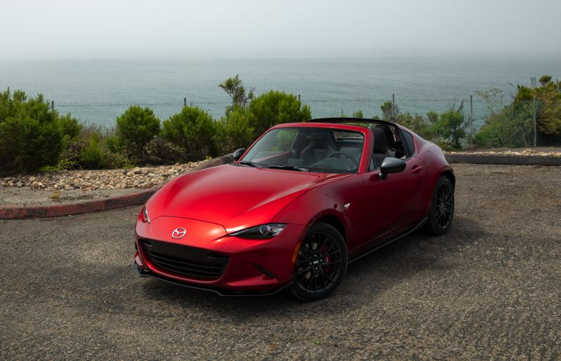 MAZDA NORTH AMERICAN OPERATIONS - The Mazda MX-5 Miata RF looks great with the top up or down, and is a blast to drive either way.