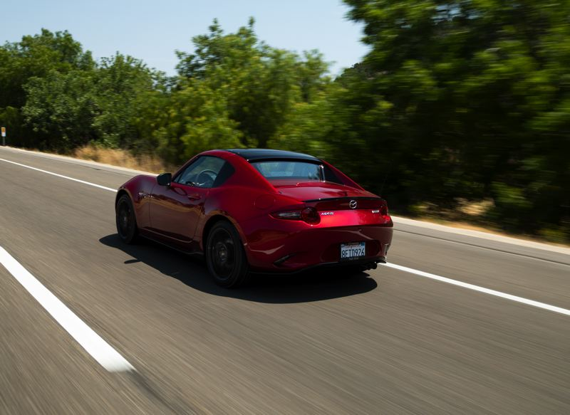 MAZDA NORTH AMERICA OPERATIONS - The fastback styling of the Mazda MX-5 Miata RF is the slickest yet for the longrunning sports car.