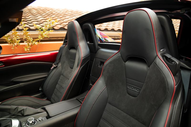 MAZDA NORTH AMERICAN OPERATIONS - Optional Recaro leather seats are available for the Mazda MX-5 Miata.