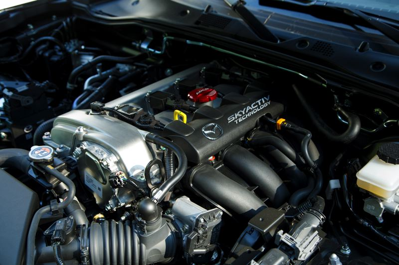 MAZDA NORTH AMERICAN OPERATIONS - The normally-aspirated 2.0-liter engine in the Mazda MX-5 Miata provides plenty of power for even the automatic transmission version.