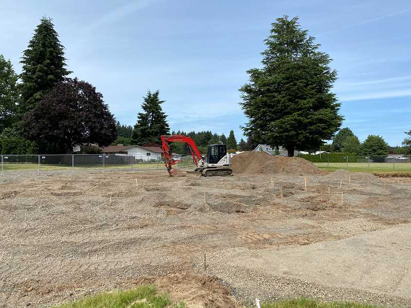 PMG PHOTO: KRISTEN WOHLERS - Here is the current state of Canby's slash pad at Maple Street Park.