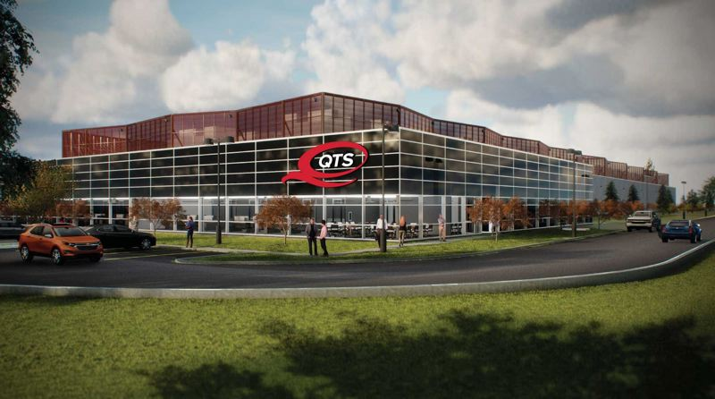 COURTESY IMAGE: QTS REALTY TRUST - A artist's rendering of QTS Realty Trust's five data center campus in Hillsboro.