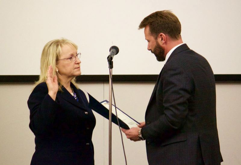 PMG FILE PHOTO - Gresham City Council voiced support to name Councilor Karylinn Echols, left, as Greshams interim mayor during a meeting next week.