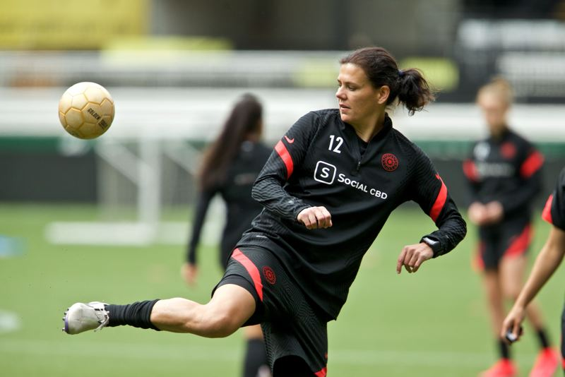 COURTESY PHOTO: PORTLAND THORNS - Christine Sinclair and the Portland Thorns are prepariong to start NWSL Challenge Cup on Saturday, though the event suffered a blow Monday when positive COVID-19 tests led the Orlando Pride to pull out.